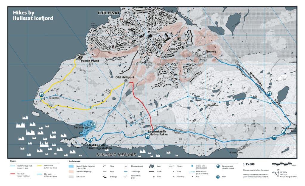 Map of Ilulissat