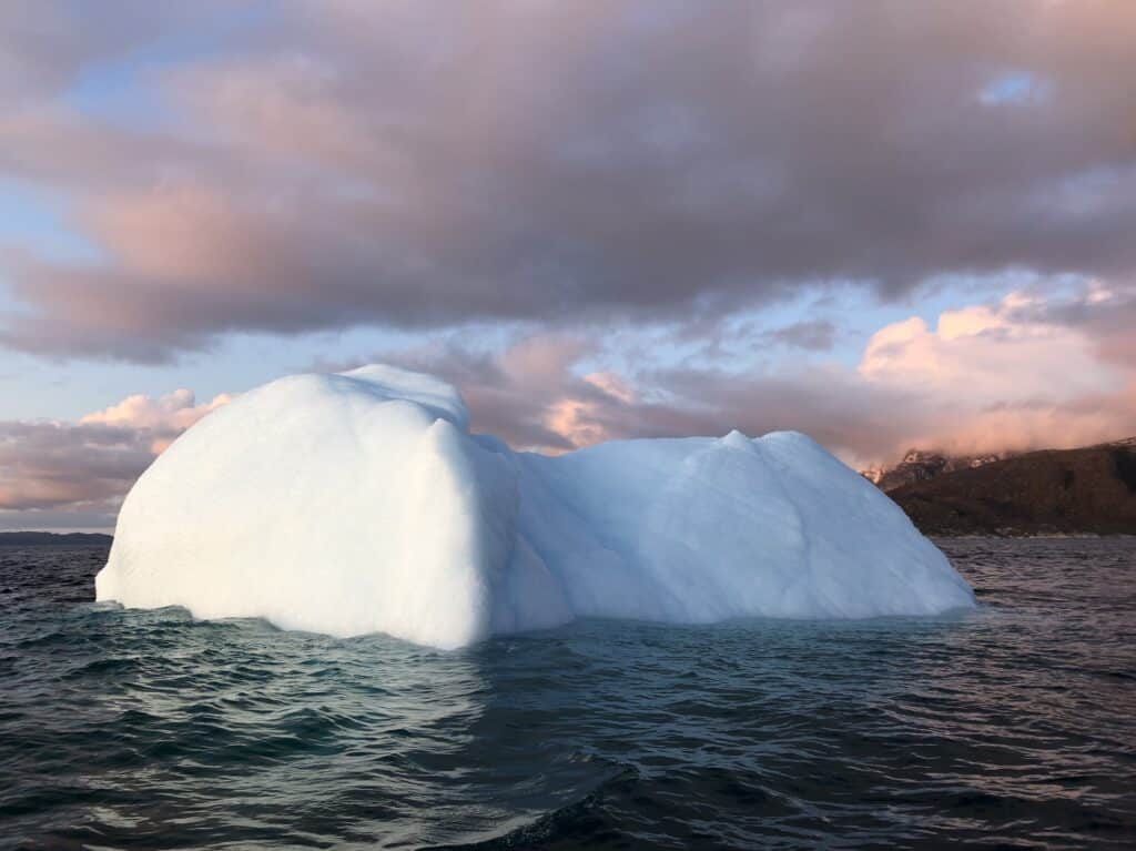 Large iceberg in the water
