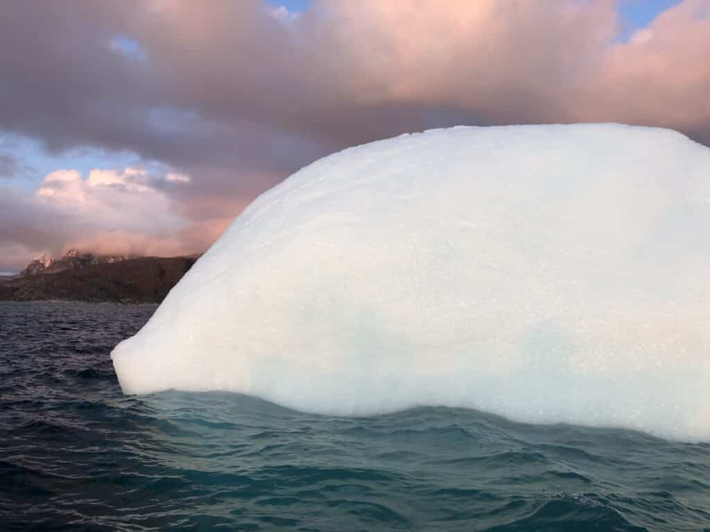 Close up picture of an iceberg
