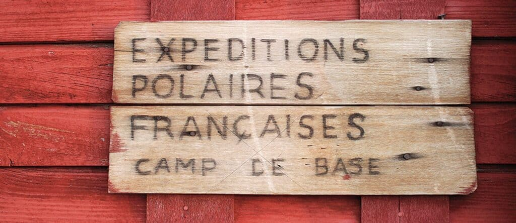 Paul-Émile Victor's modest wooden cabin was the expedition's headquarters