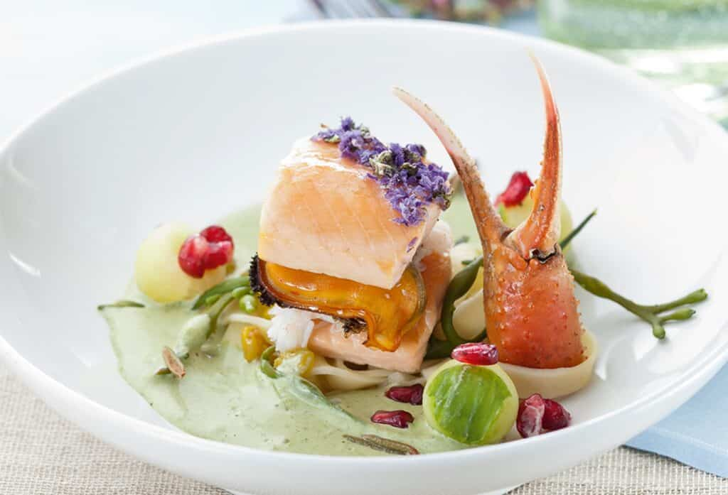 Delicious greenlandic seafood gourmet style