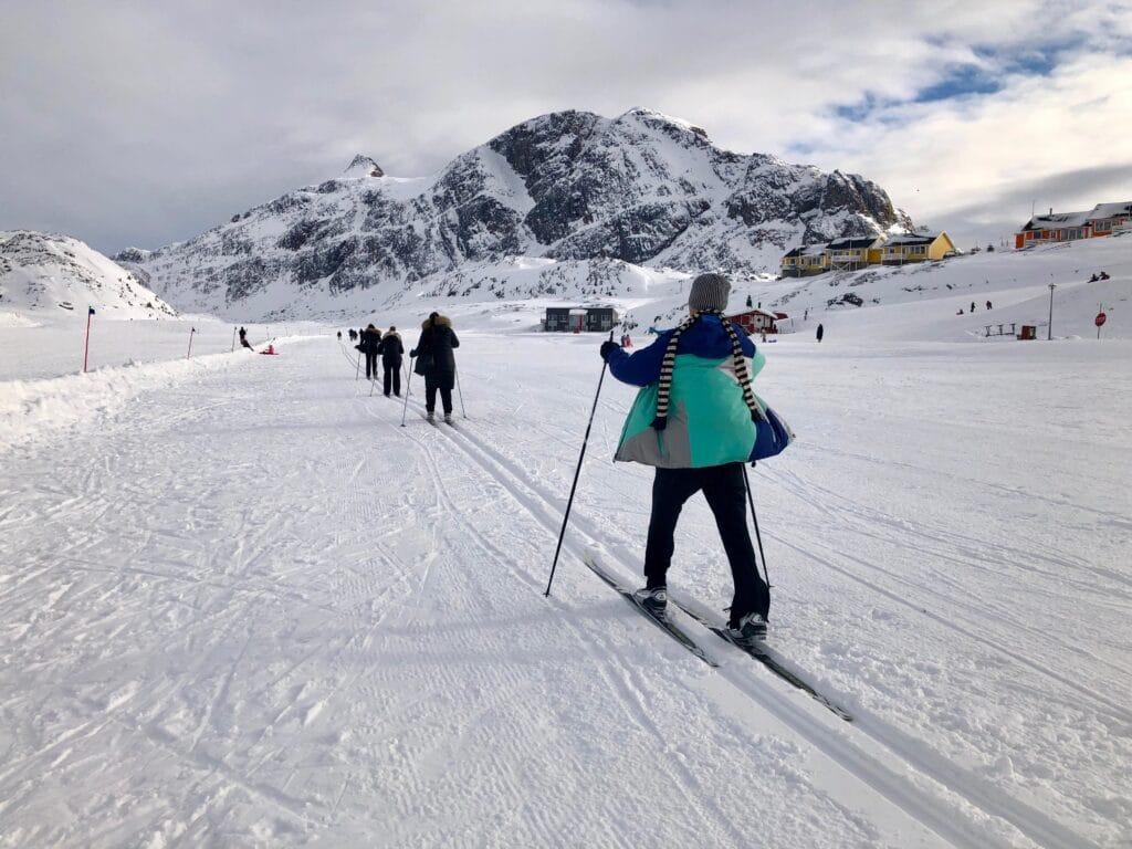 Skiing in Sisimiut