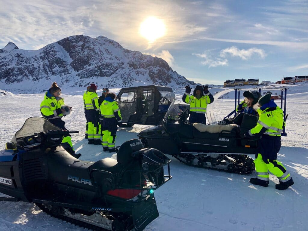 Snowscooter in Sisimiut