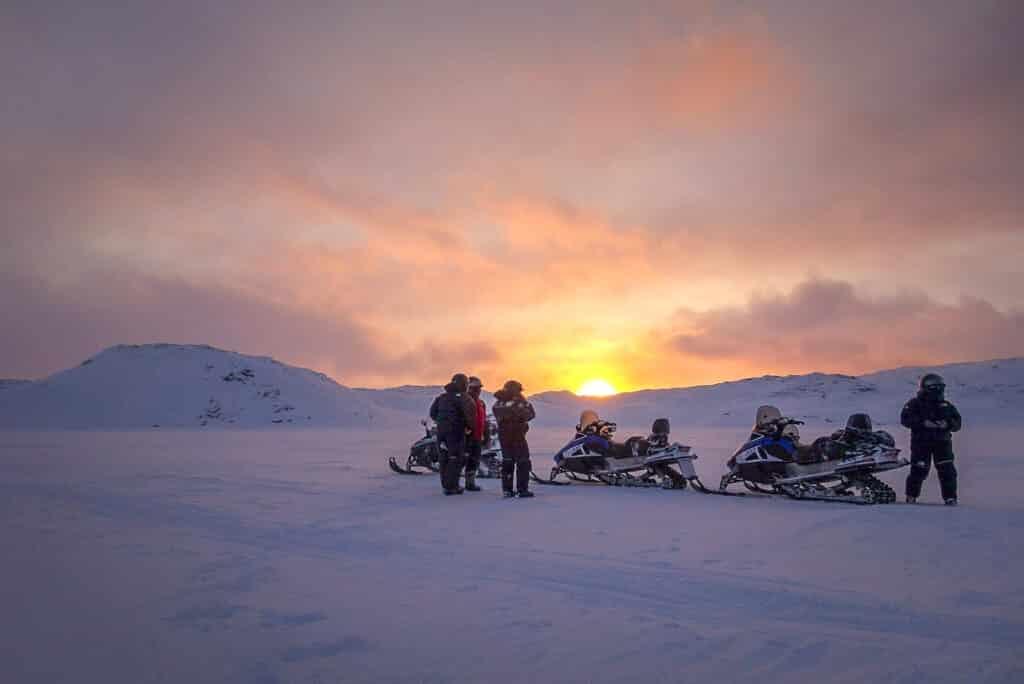 Snowmobiling near Ilulissat