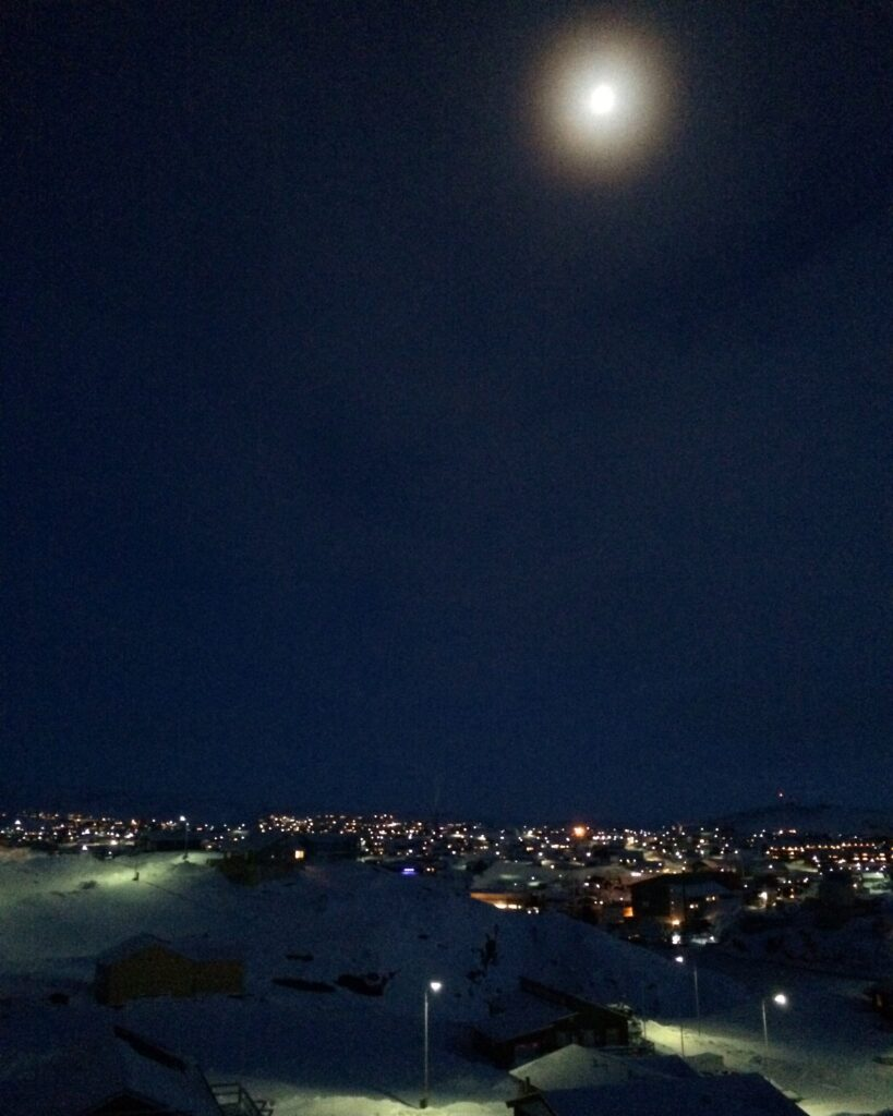 City in the moonlight