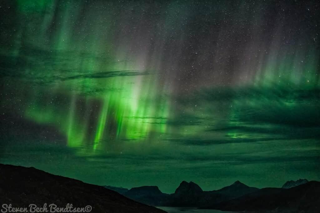 Northen lights near Qaqortoq