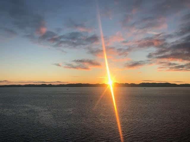 Sunset in Nuuk