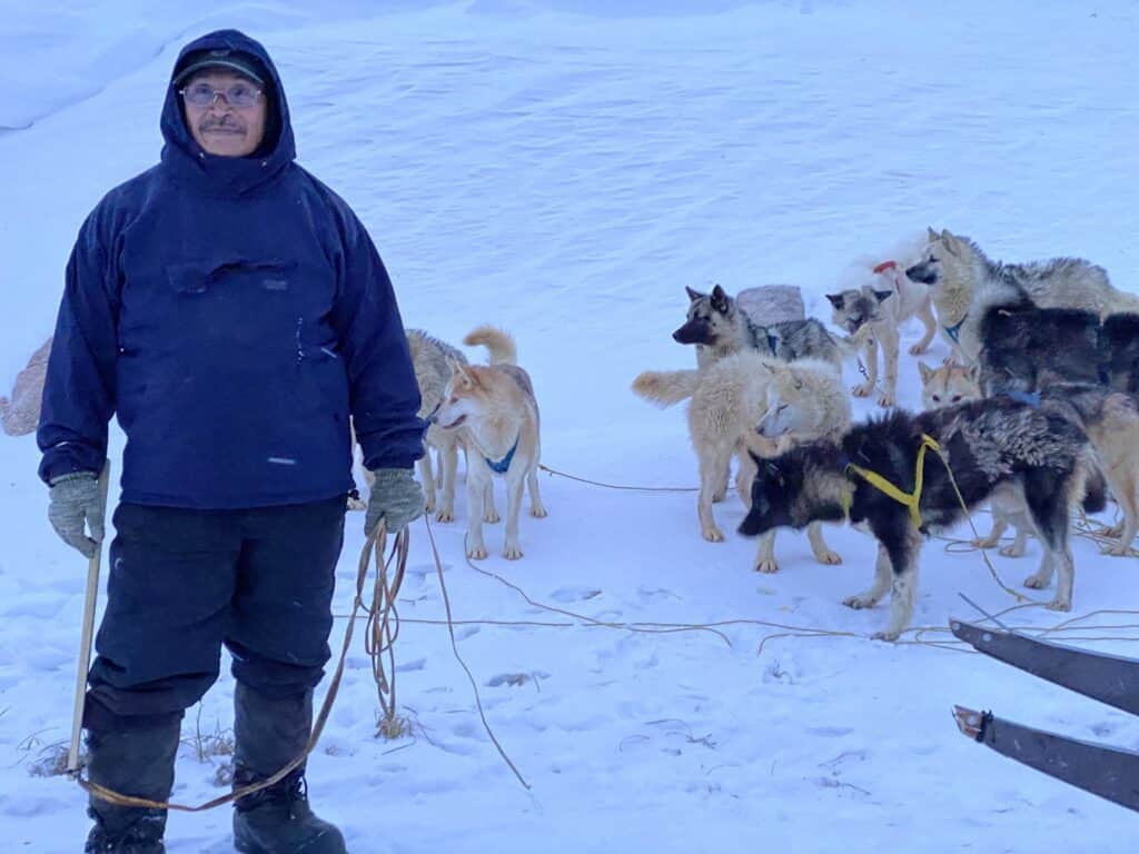 Musher with his dogs