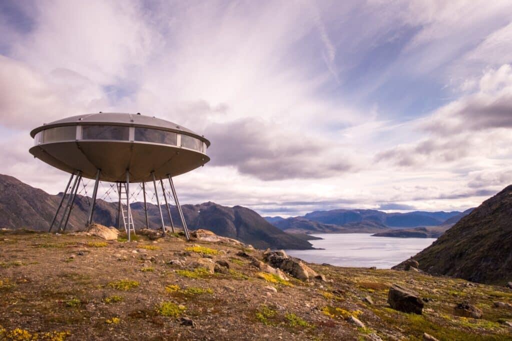 The UFO hut