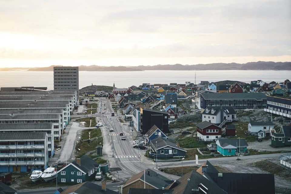 A view of Nuuk down town