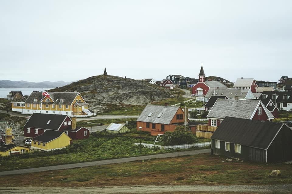 The old hospital and a church in Nuuk