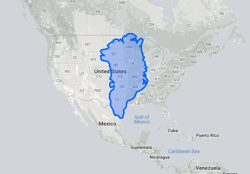 The true size of Greenland, should it be a Continent?