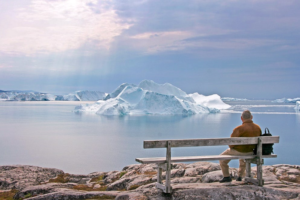 Вид на ледяной фьорд Илулиссат