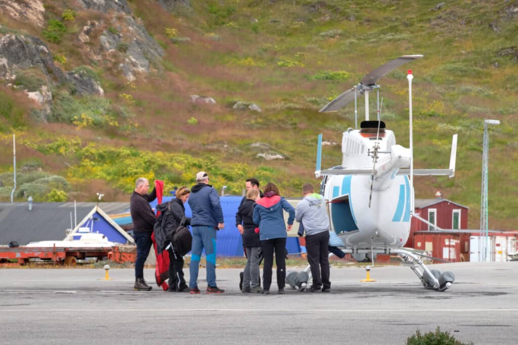 Scenic flight over Qaqortoq