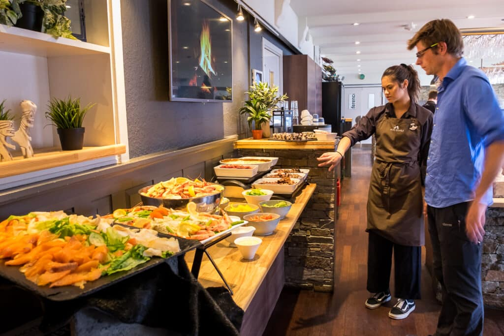 The Traditional Greenlandic Buffet at the Hotel Sisimiut