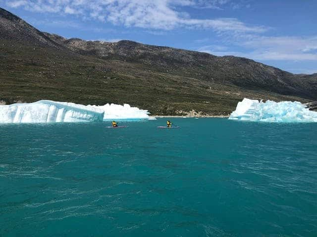 Paddleboarding on the icefjord