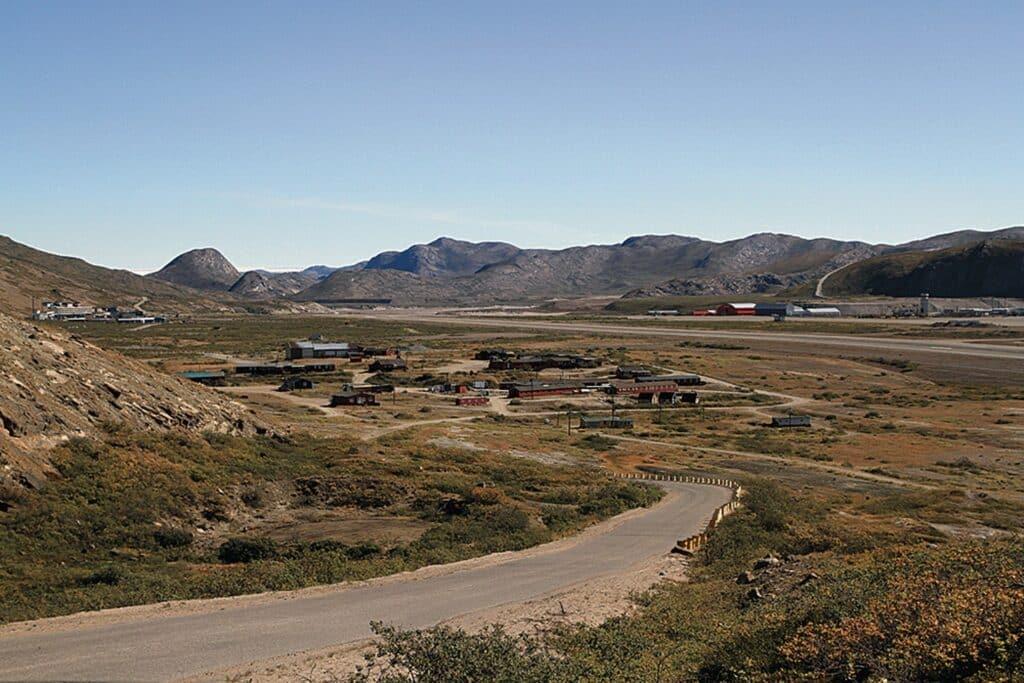 View of Kangerlussuaq airport from afar