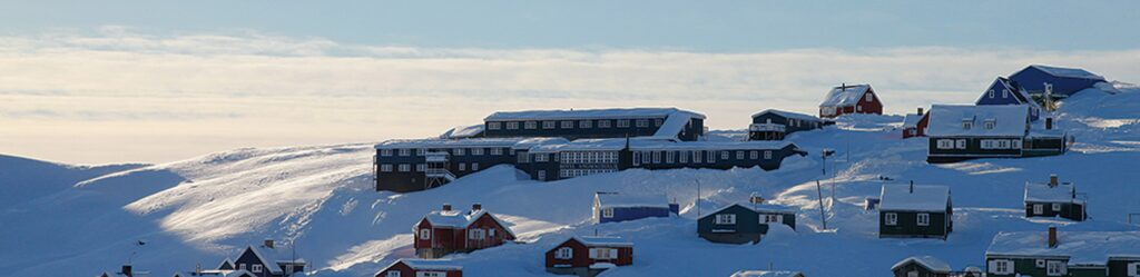 Views in Tasiilaq in East Greenland