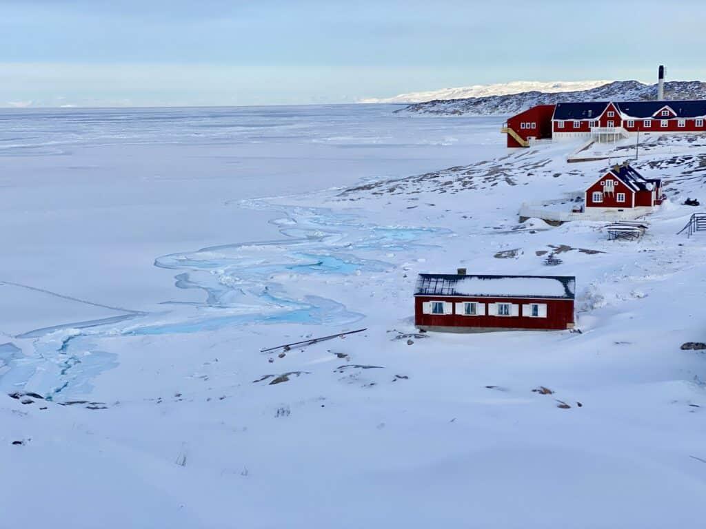 Frozen Nuuk fjord