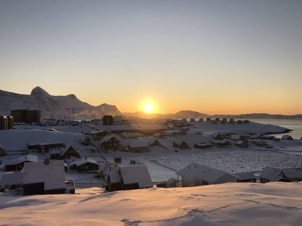 Sunrise over Nuuk