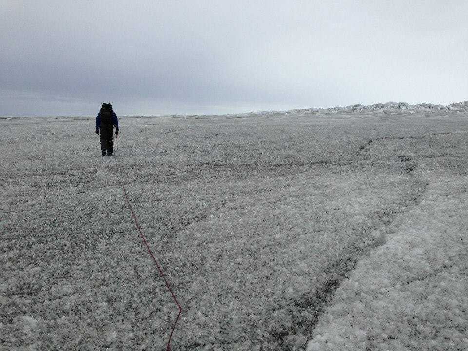 Walkning on the glacier