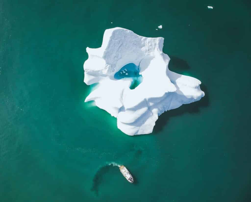 Iceberg seen from above