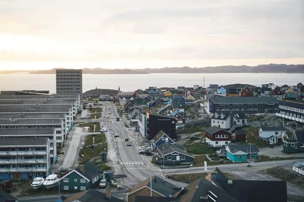 Nuuk seen from above
