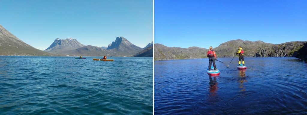 Kayaking and stand-up paddleboarding on Northland