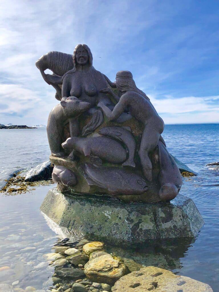 Sculpture in Nuuk