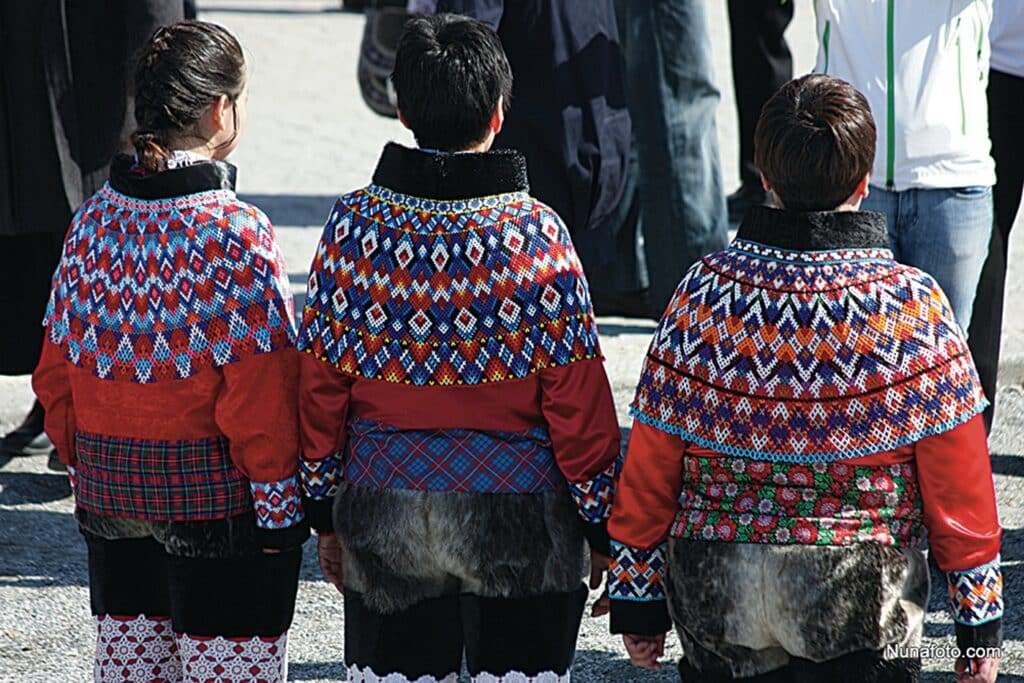 The greenlandic national costume