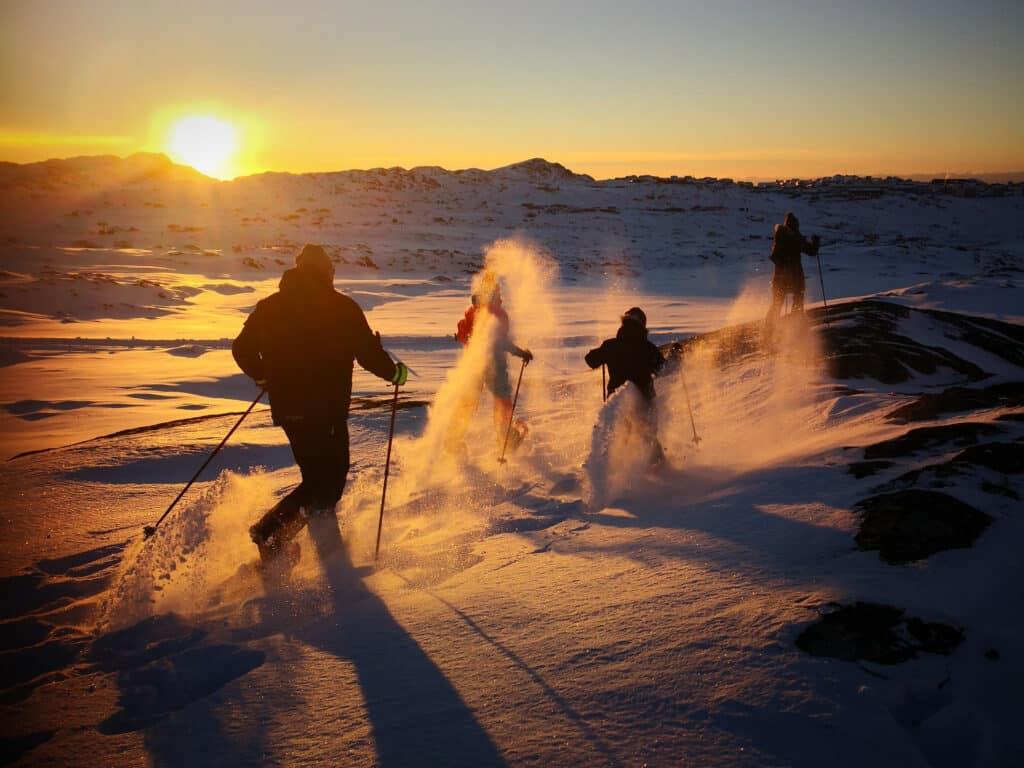 Snowshoeing near Sisimiut