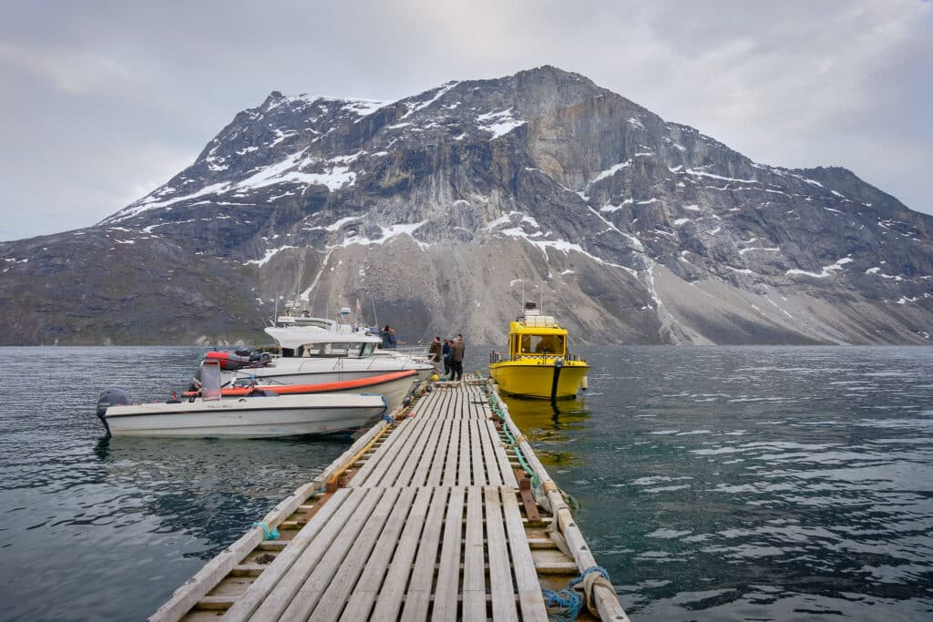 Our boat await to take us back to Nuuk after our fishing and boat tour adventure - Guide to Greenland
