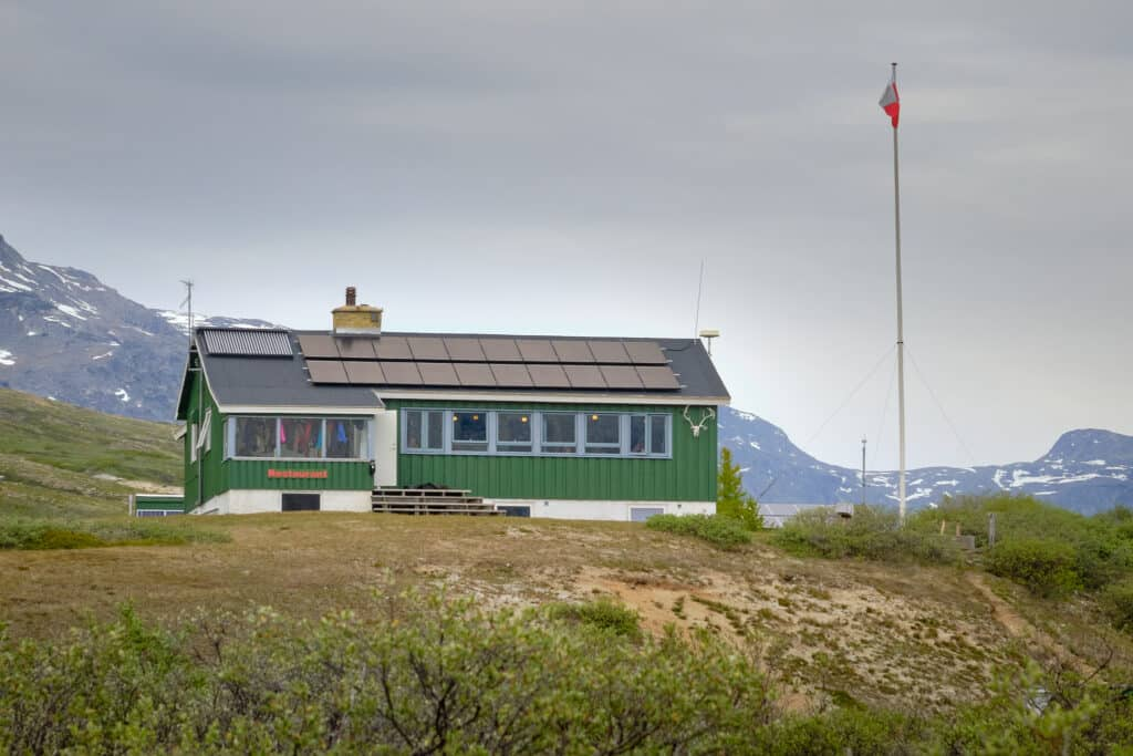 Qooqqut Nuan restaurant in the Nuuk Fjord - summer - Guide to Greenland