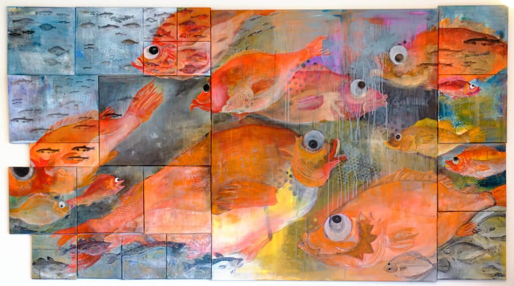 Redfish artwork in Qooqqut Nuan restaurant - Nuuk Fjord - Guide to Greenland