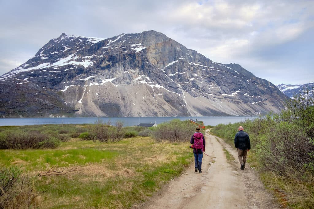 Walking towards Qooqqut dock in the Nuuk Fjord - Guide to Greenland