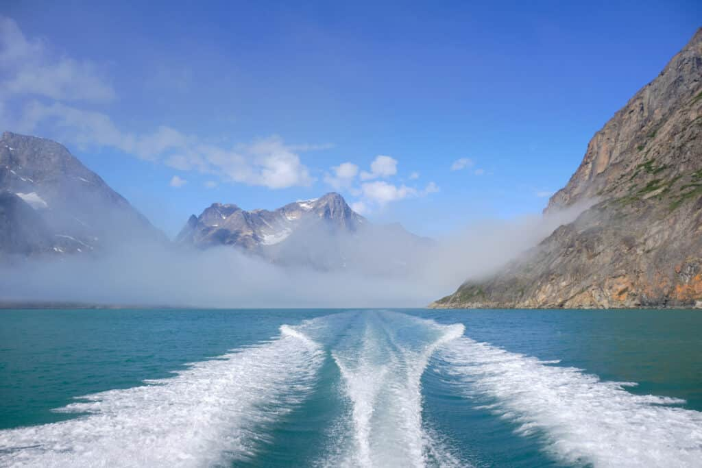 Breaking free of the fog on a boat tour to the Eternity Fjord near Maniitsoq -Guide to Greenland