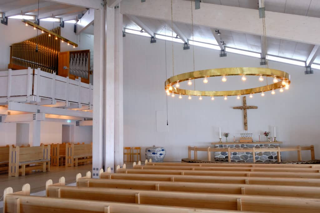 Interior of the new church in Maniitsoq - Guide to Greenland