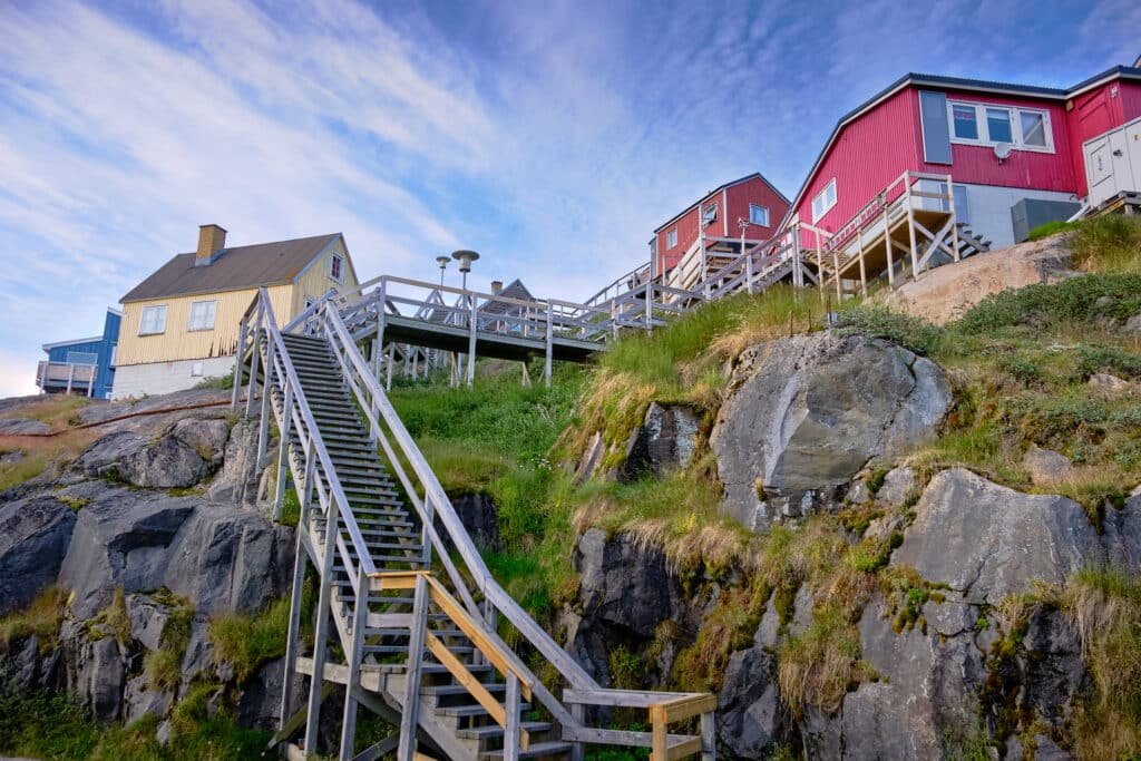 Maniitsoq has a lot of stairs - Guide to Greenland