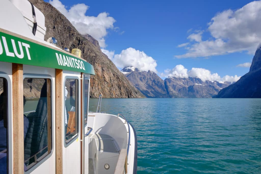 View from a boat tour heading into the Eternity Fjord near Maniitsoq - Guide to Greenland