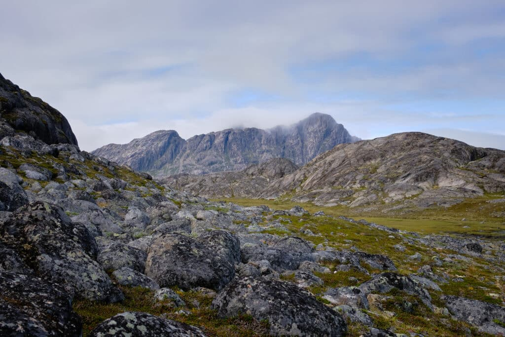 View towards the flower valley and the highest mountain on Maniitsoq island - Guide to Greenland