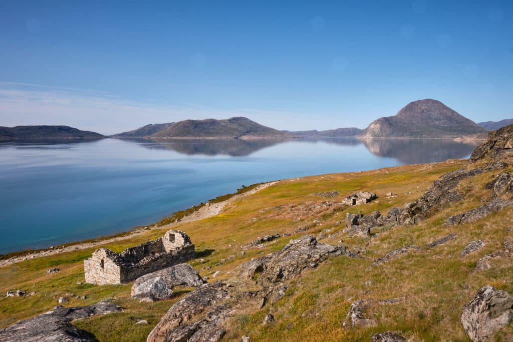 Hvalsey Church and fjord - Qaqortoq