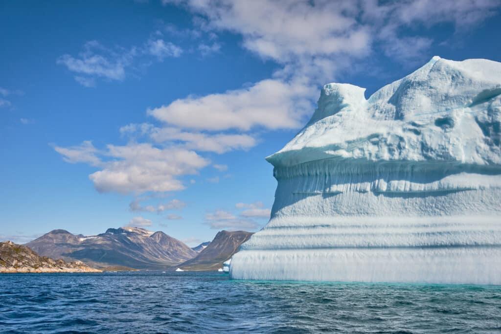 Large iceberg near Uunartoq Hot Spring near Qaqortoq