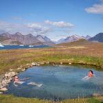 Soaking in the Uunartoq Hot Spring near Qaqortoq