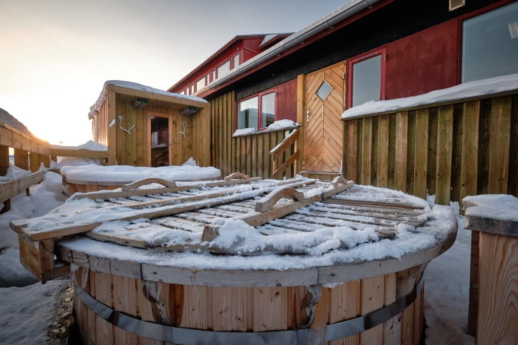 The Arctic Spa on the terrace of the Hotel Sisimiut