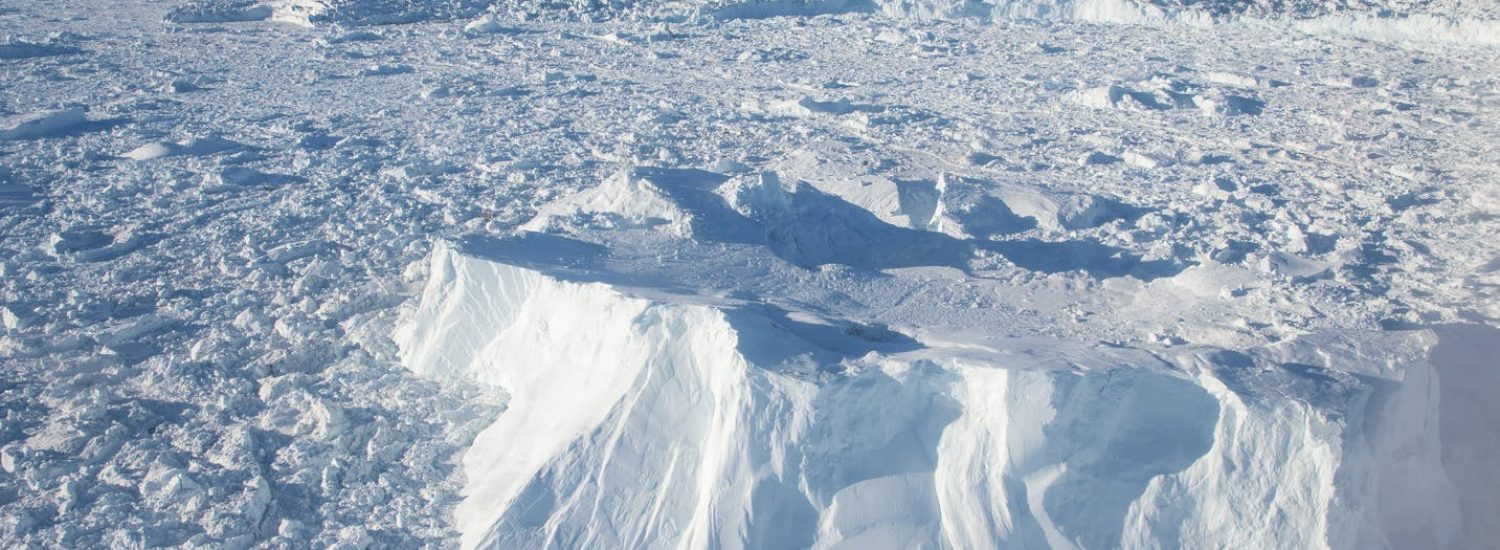 Aerial-view-of-the-tightly-packed-ice-of-the-Ilulissat-Icefjord-Guide-to-Greenland