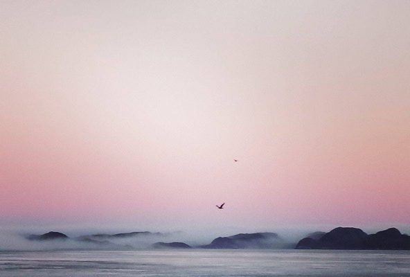 Blushing morning sky in Nuuk - Guide to Greenland
