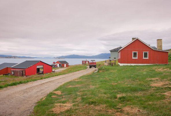 Farm buildings of Upernaviarsuk agricultural station near Qaqortoq