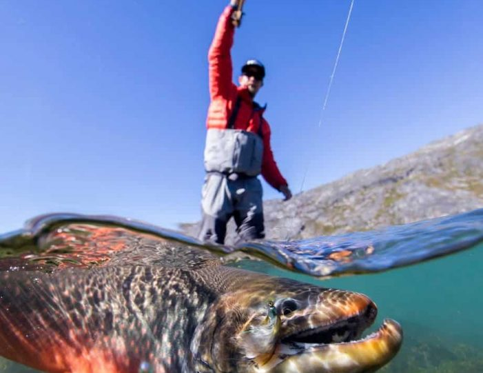 Heli Fishing Arctic Char Private charter Nuuk - Guide to Greenland2