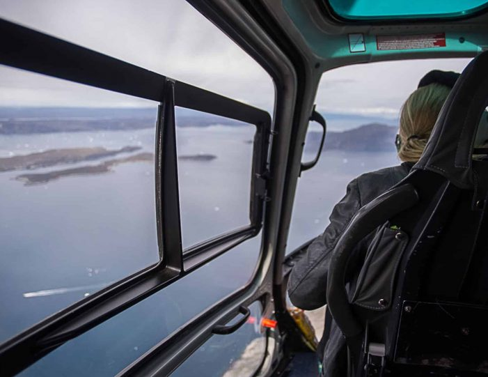 Helicopter tour to the icefjord Private charter tour Nuuk - Guide to Greenland2