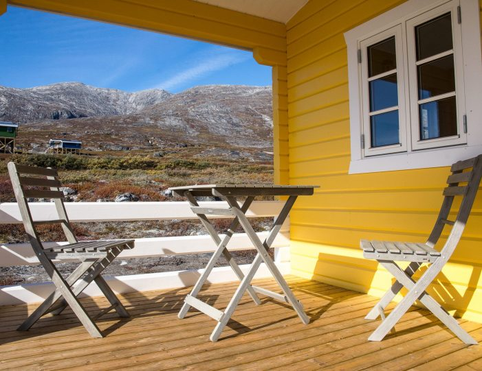 Hut Terrace in Nuuk fjord- Guide to Greenland